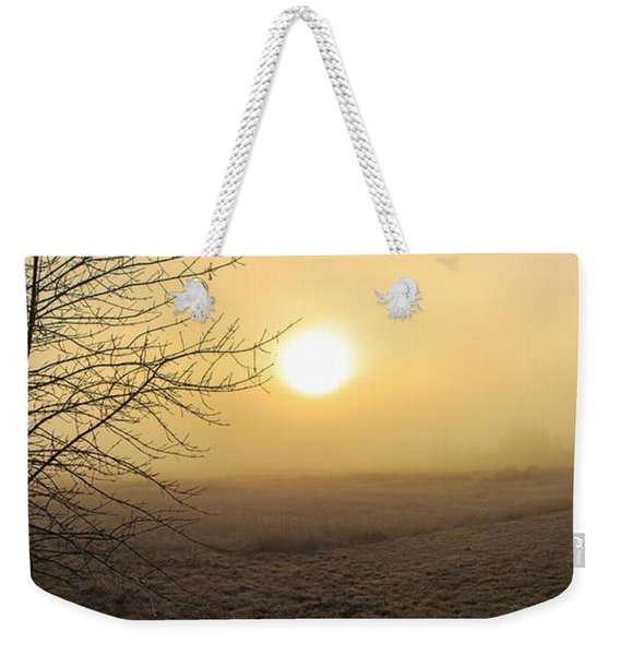 Frosty Sunrise Weekender Tote Bag