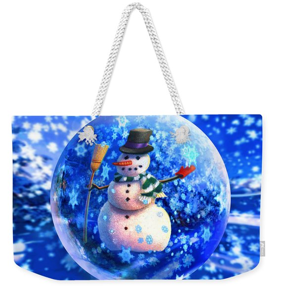 Frosty The Snowglobe Weekender Tote Bag