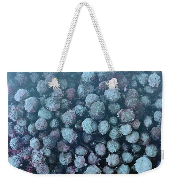 Frozen Blueberries Weekender Tote Bag