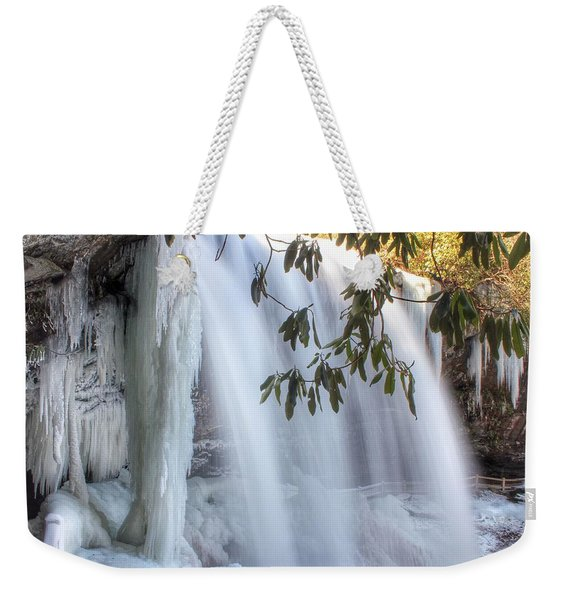 Frozen Dry Falls Weekender Tote Bag