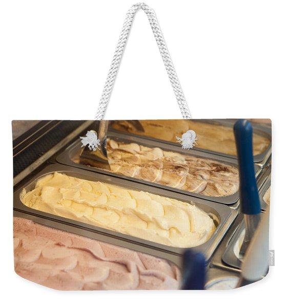 Frozen Gelato On Display Weekender Tote Bag