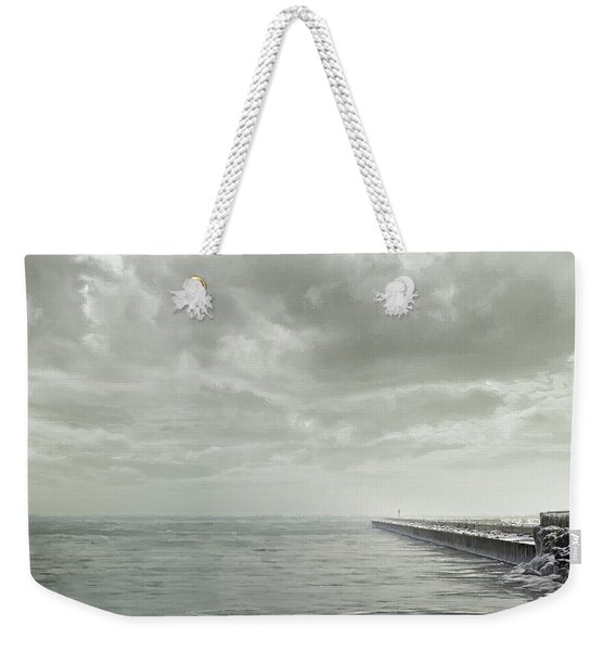 Frozen Jetty Weekender Tote Bag