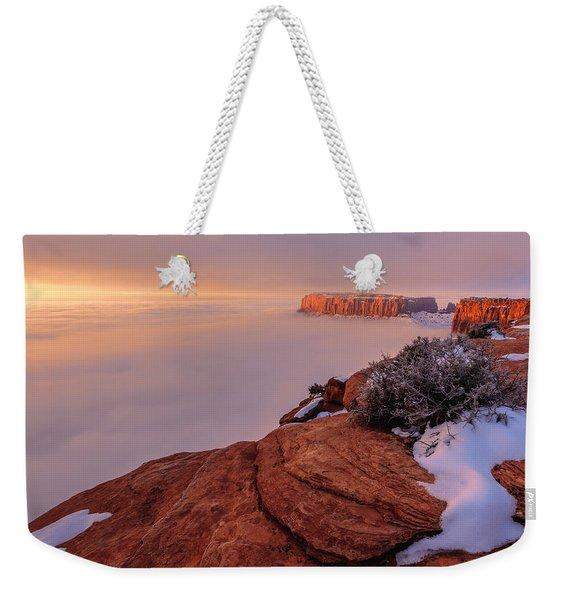 Frozen Mesa Weekender Tote Bag