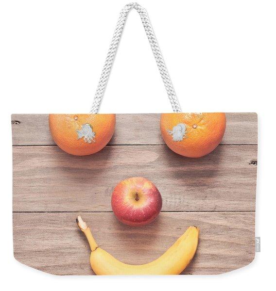 Fruit Face Weekender Tote Bag