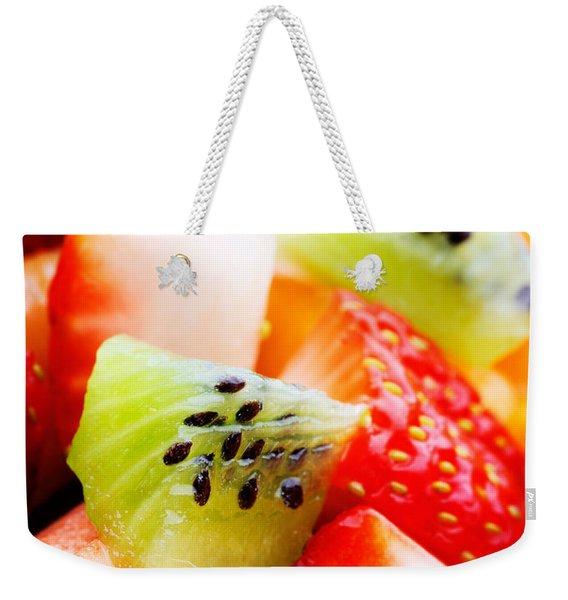 Fruit Salad Macro Weekender Tote Bag