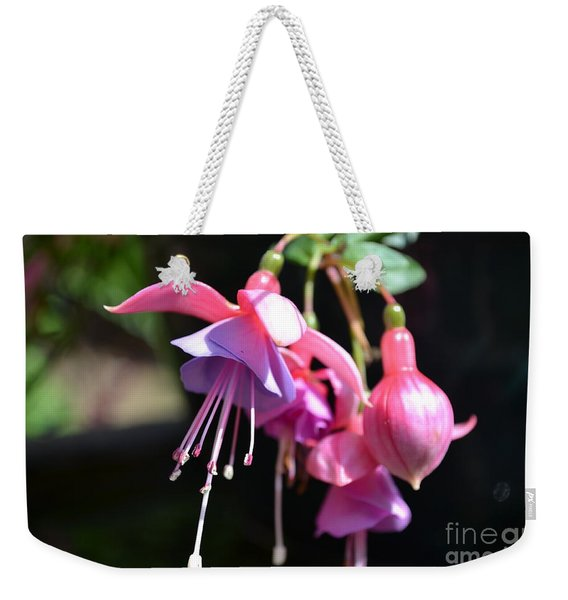 Weekender Tote Bag featuring the photograph Fuchsia Flower by Scott Lyons