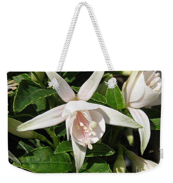 Fuchsia Named Diva White Weekender Tote Bag