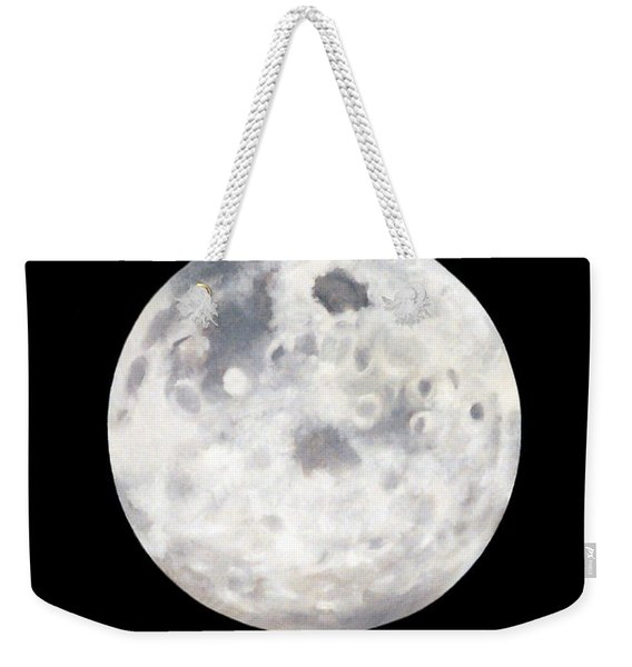 Full Moon In Black Night Weekender Tote Bag