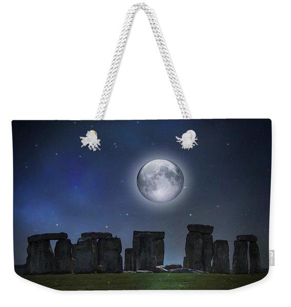 Full Moon Over Stonehenge Weekender Tote Bag
