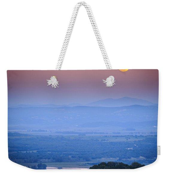 Full Moon Over Vejer Cadiz Spain Weekender Tote Bag