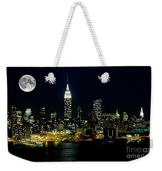 Full Moon Rising - New York City Weekender Tote Bag