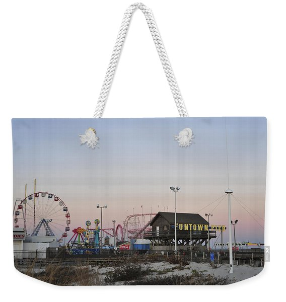 Fun At The Shore Seaside Park New Jersey Weekender Tote Bag