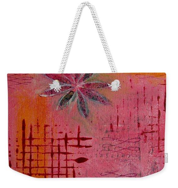 Fun Flowers In Pink And Orange 1 Weekender Tote Bag
