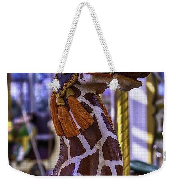 Fun Giraffe Carousel Ride Weekender Tote Bag