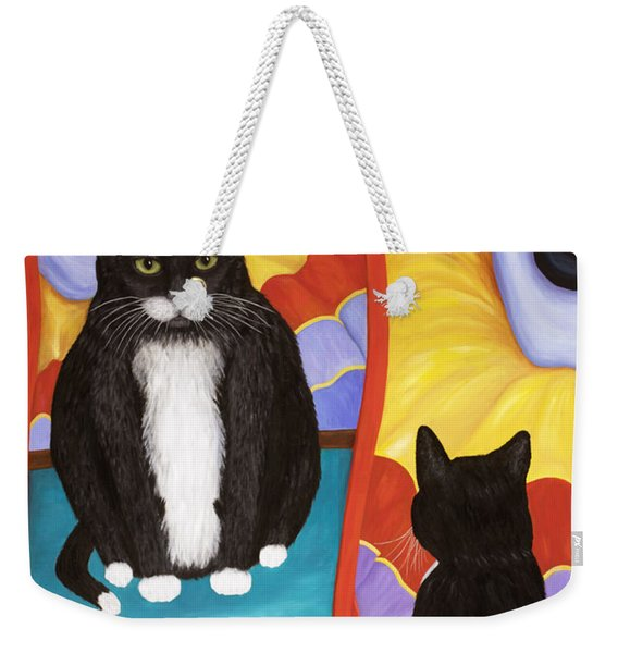 Fun House Fat Cat Weekender Tote Bag