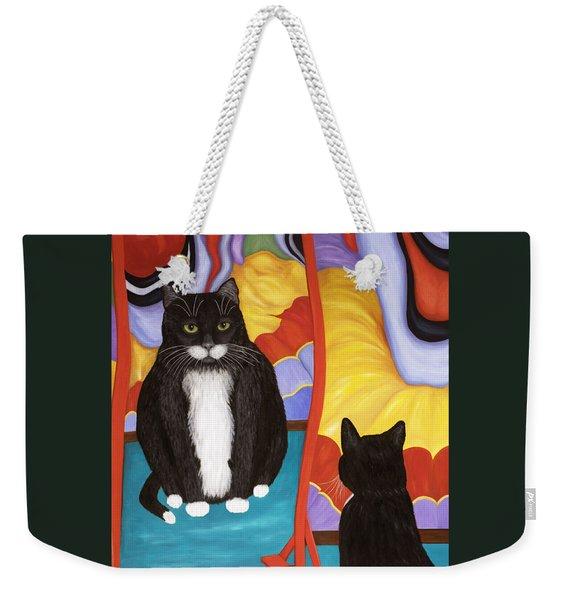 Fun House Fat Cat Weekender Tote Bag