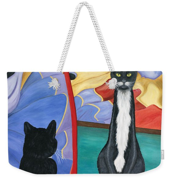 Fun House Skinny Cat Weekender Tote Bag