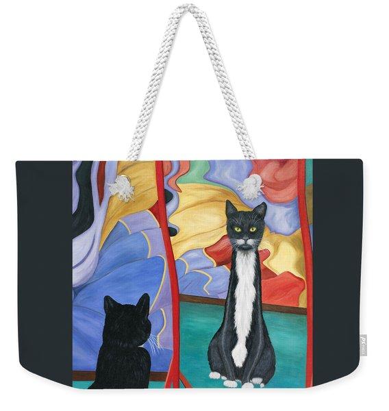 Fun House Skinny Cat Weekender Tote Bag