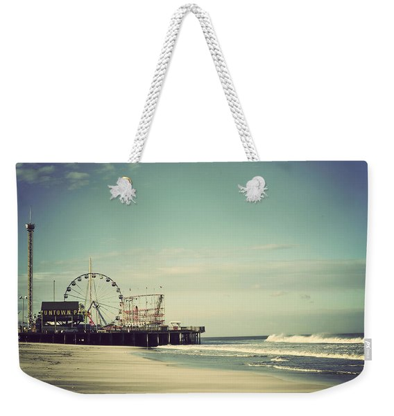 Funtown Pier Seaside Heights New Jersey Vintage Weekender Tote Bag