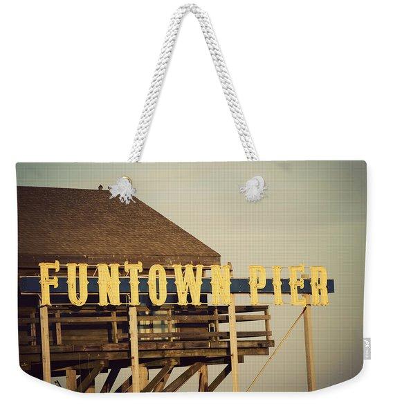 Funtown Vintage Weekender Tote Bag
