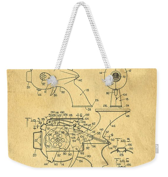 Futuristic Toy Gun Weapon Patent Weekender Tote Bag