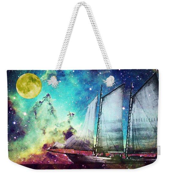 Galileo's Dream - Schooner Art By Sharon Cummings Weekender Tote Bag