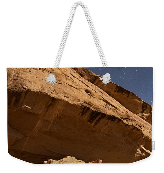 Gallo Cliff Dwelling Under The Bright Moon Weekender Tote Bag