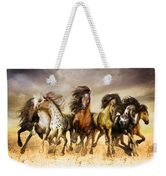 Galloping Horses Full Color Weekender Tote Bag