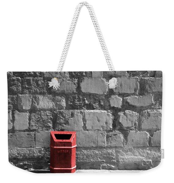 Garbage Can Weekender Tote Bag