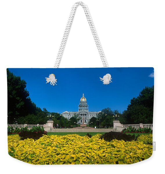 Garden In Front Of A State Capitol Weekender Tote Bag