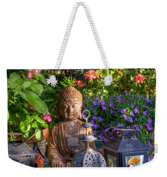 Garden Meditation Weekender Tote Bag