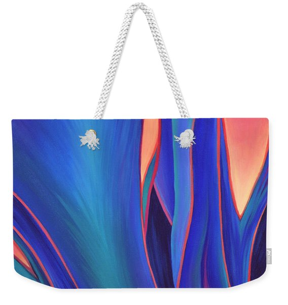 Weekender Tote Bag featuring the painting Garden Party by Sandi Whetzel