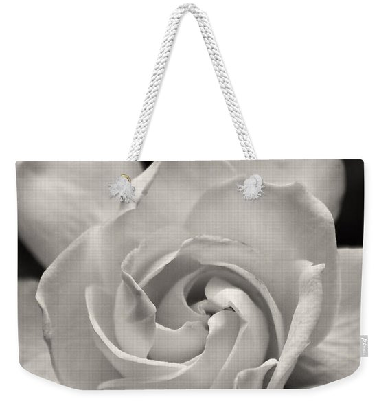 Gardenia Bloom In Sepia Weekender Tote Bag