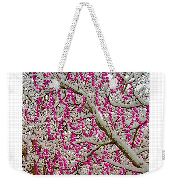 Garlands In The Snow Weekender Tote Bag