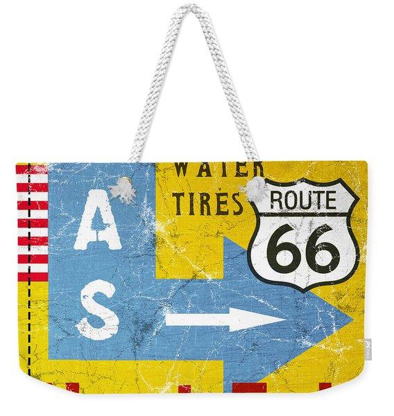 Gas Next Exit- Route 66 Weekender Tote Bag