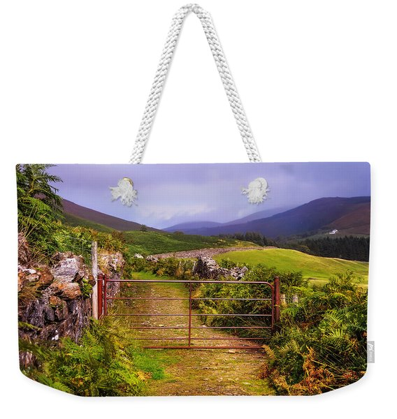 Gates On The Road. Wicklow Hills. Ireland Weekender Tote Bag