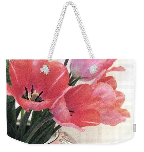 Gathered Tulips Weekender Tote Bag
