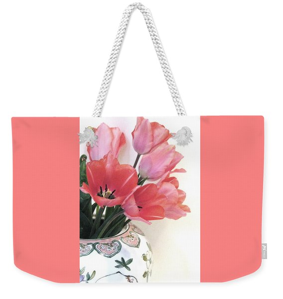 Gathered Tulips Weekender Tote Bag