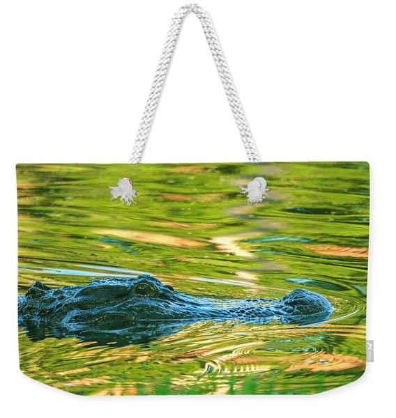 Gator In Pond Weekender Tote Bag