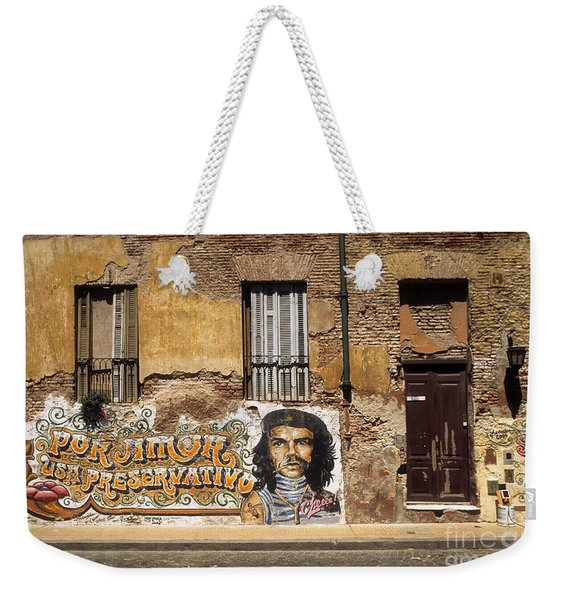 Gaucho Che Promotes Contraception Weekender Tote Bag