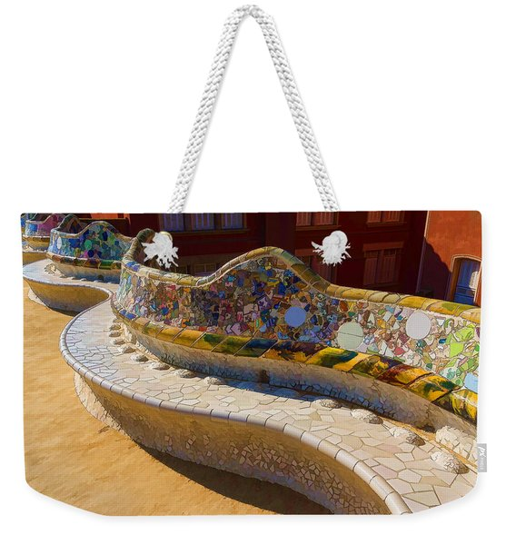 Gaudi's Park Guell Sinuous Curves - Impressions Of Barcelona Weekender Tote Bag