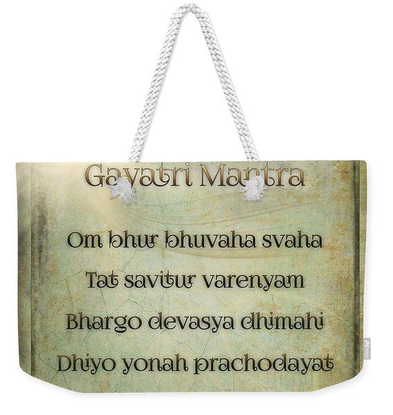Gayatri Mantra Weekender Tote Bag