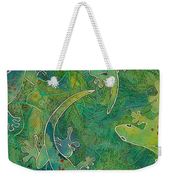 Gecko Magic Weekender Tote Bag