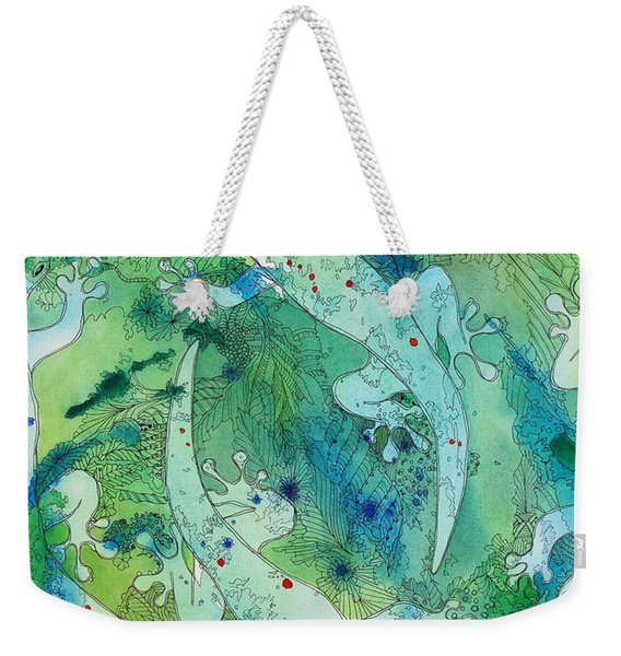 Geckos At Play Weekender Tote Bag