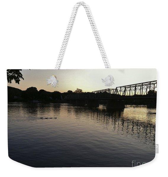 Geese Going Places Weekender Tote Bag