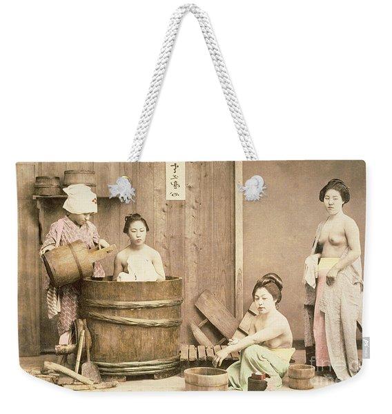 Geishas Bathing Weekender Tote Bag