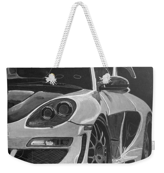Weekender Tote Bag featuring the painting Gemballa Porsche Left by Richard Le Page