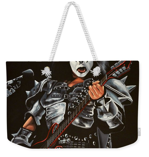 Gene Simmons Of Kiss Weekender Tote Bag