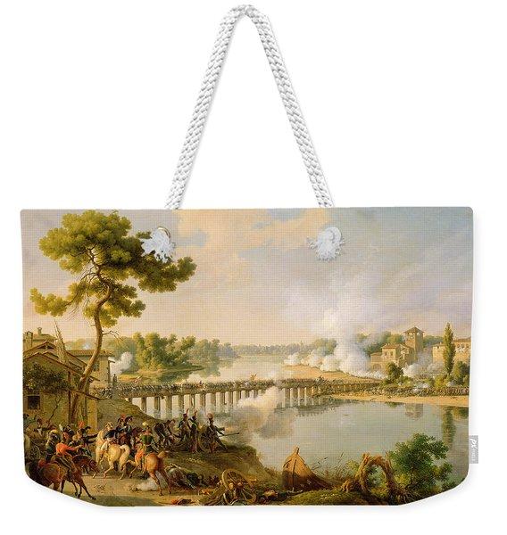 General Bonaparte Giving Orders At The Battle Of Lodi Weekender Tote Bag