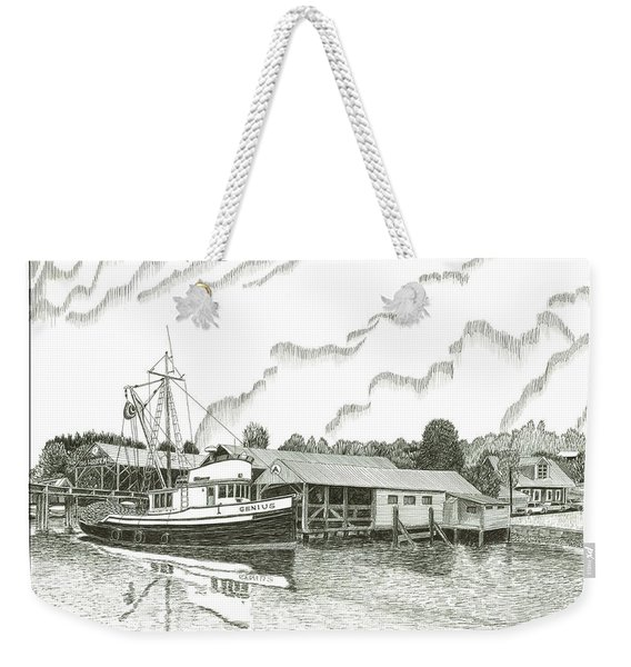 Fishing Trawler Gig Harbor Weekender Tote Bag